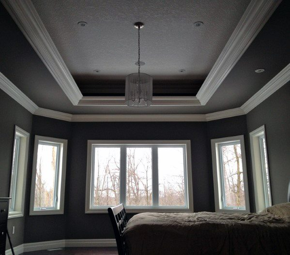 Bedroom Ceiling Paint Ideas Bedroom Armoires Bedroom Sets Pinterest Bedroom Paint Accent Wall: Top 50 Best Trey Ceiling Ideas