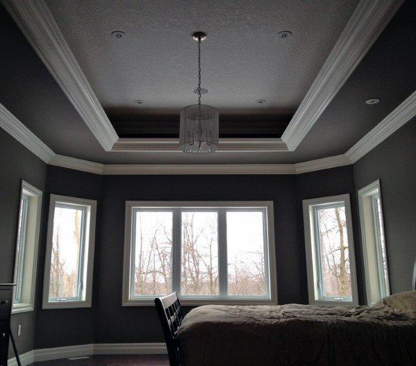 Tray Ceiling Designs Bedroom: Top 50 Best Trey Ceiling Ideas