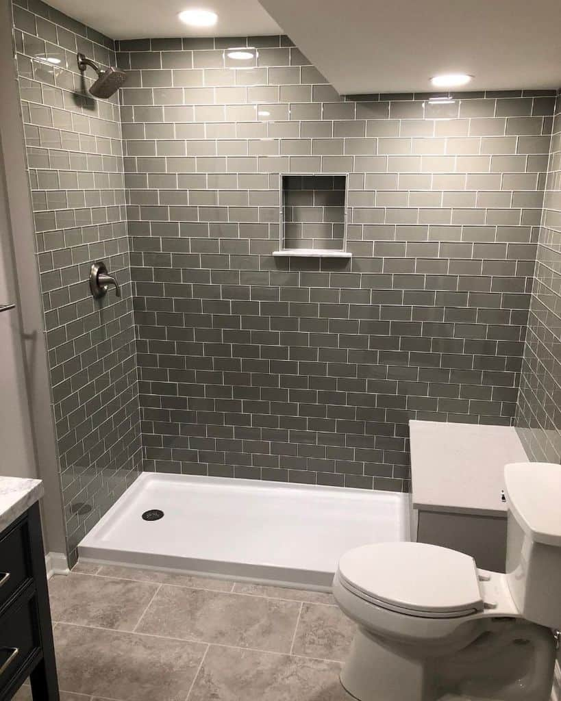 Grey Basement Bathroom Kc Bathroomremodeling