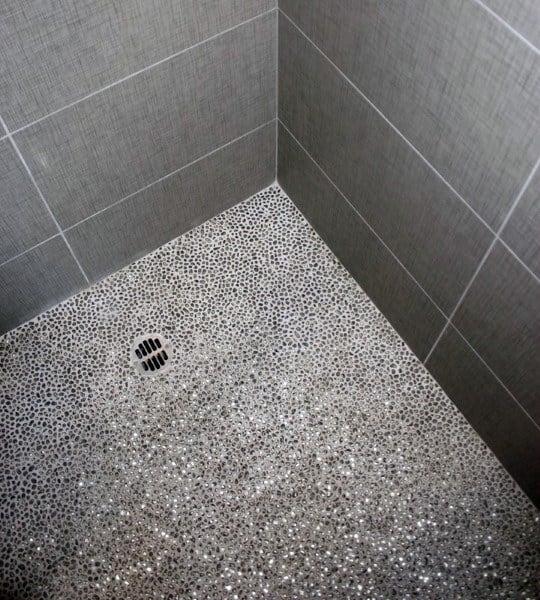 Grey Bathroom Floor Shower