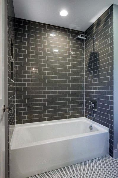 Grey Bathroom Subway Tile Ideas