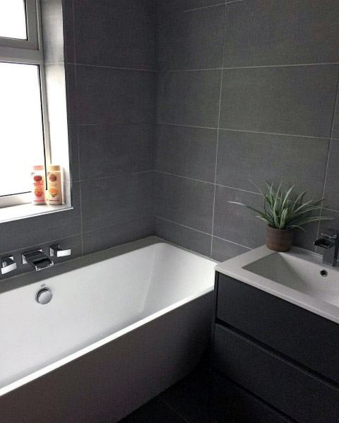 Grey Bathroom Tile Cool Interior Ideas