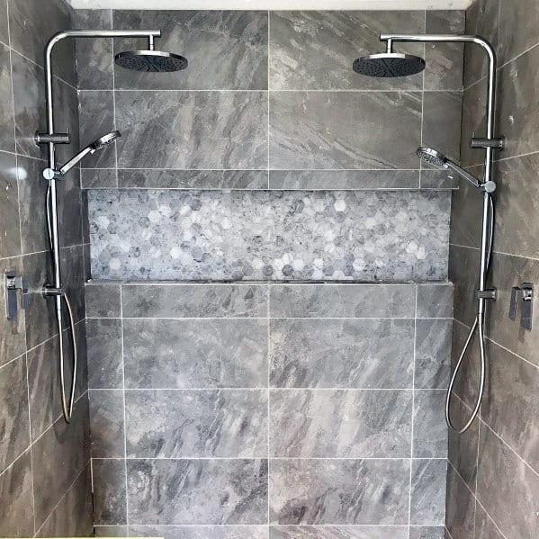Grey Bathroom Tile Design Idea Inspiration Master Shower