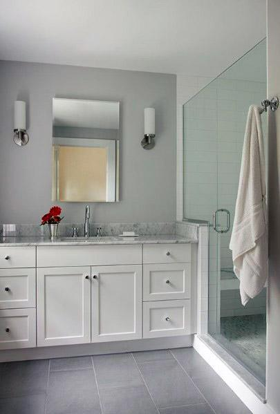 Grey Bathroom Tile Design Inspiration