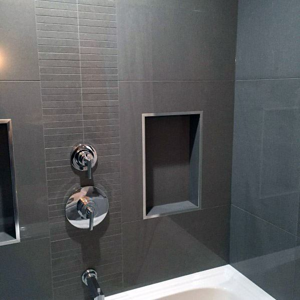 Grey Bathroom Tile Interior Ideas