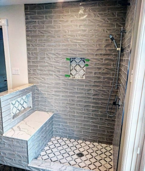 Grey Bathroom Tile Spectacular Ideas