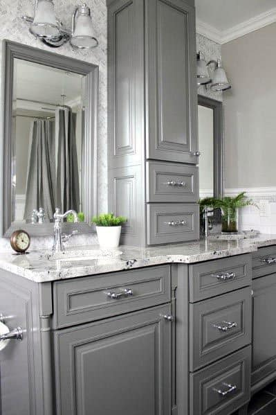 Grey Bathroom Wall Ideas