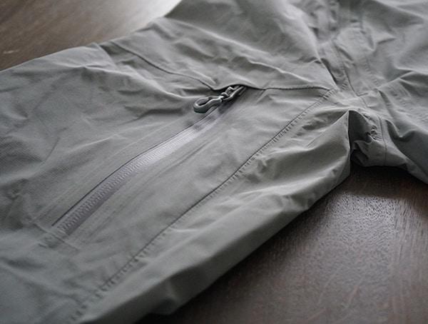 Grey Beyond Clothing K6 Arx Rain Mens Jacket Arm Pocket Closed