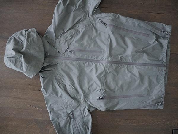 Grey Beyond Clothing Mens K6 Arx Rain Jacket Front