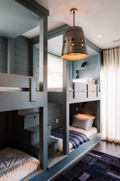 Grey Built In Bunk Bed Ideas