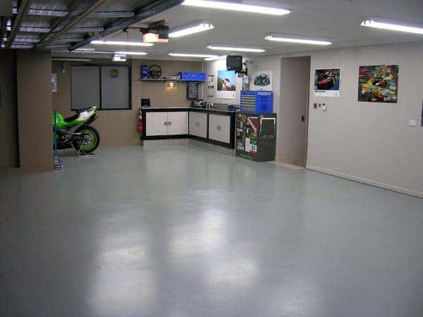 Grey Concrete Floor Paint Garage Ideas