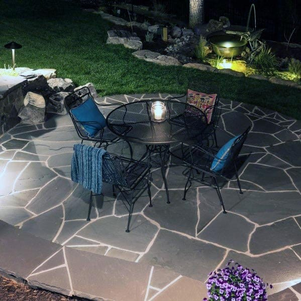Grey Design Ideas For Flagstone Patio