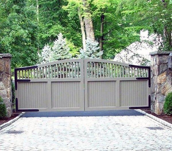 Grey Driveway Gate Ideas