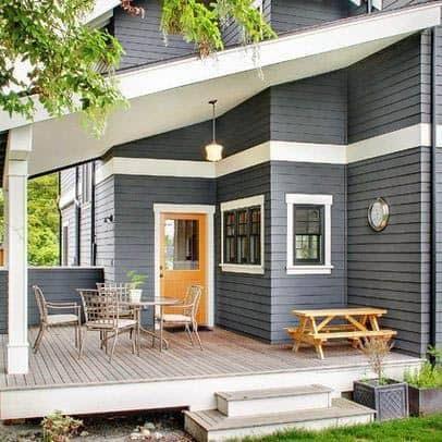 Grey Exterior House Paint Design
