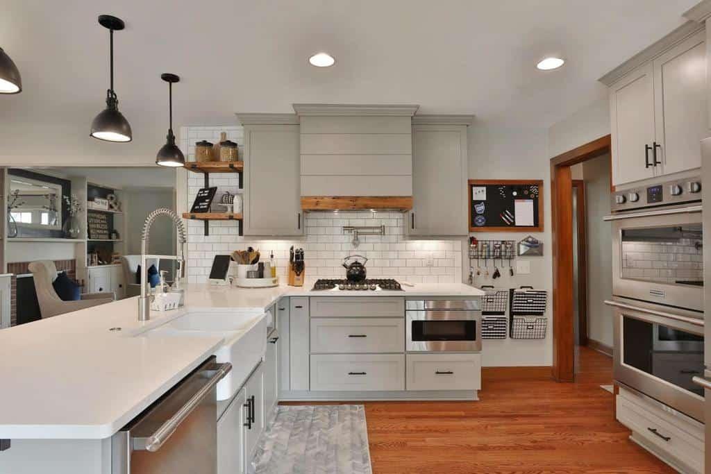 grey farmhouse kitchen ideas capcityliving