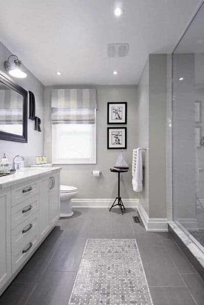Grey Flooring Tiles Traditional Bathroom Ideas