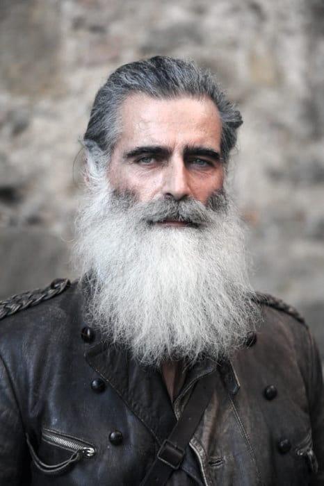 Grey Hair Mens Beard Styles
