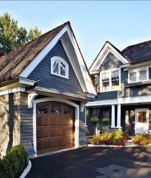 Grey House Paint Design Idea Inspiration