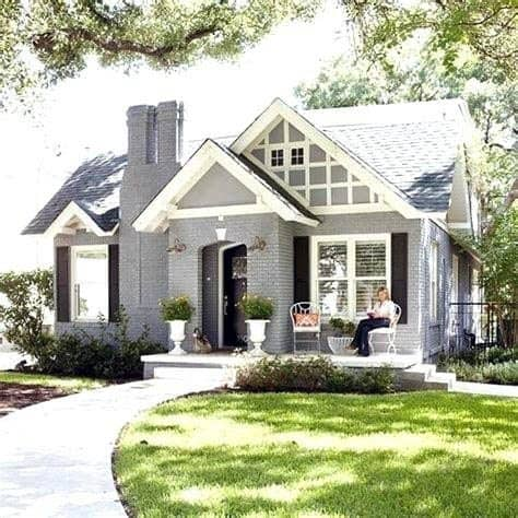 Grey House Paint Design Inspiration