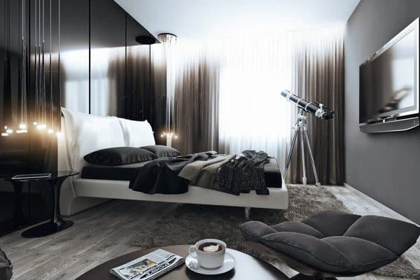 Grey Hue Men's Bedroom