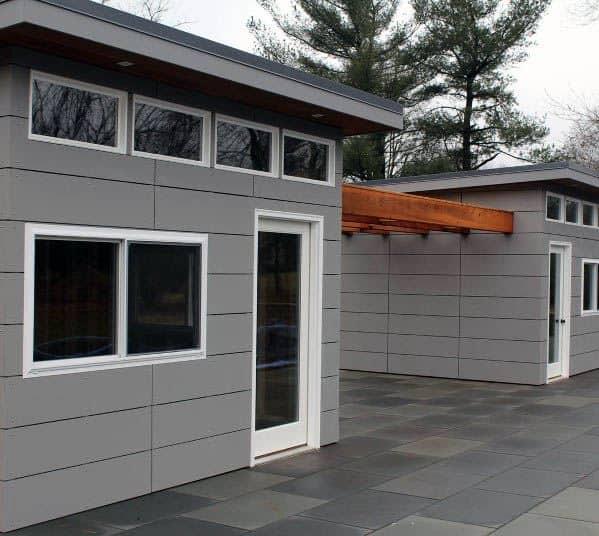 Grey Idea Inspiration Backyard Shed Designs