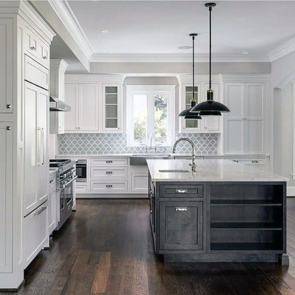 Grey Kitchen Backsplash