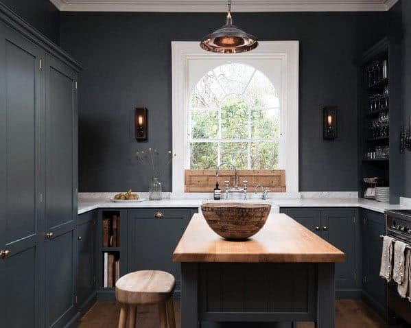 Grey Kitchen Wall Idea