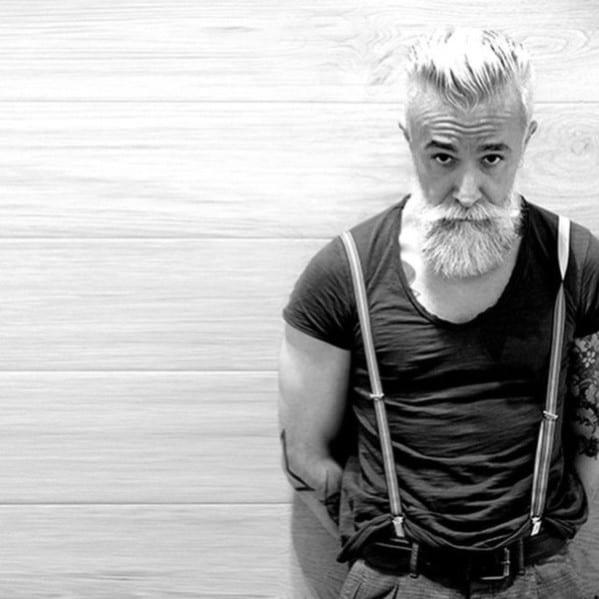Grey Manly Guys Beard Styles