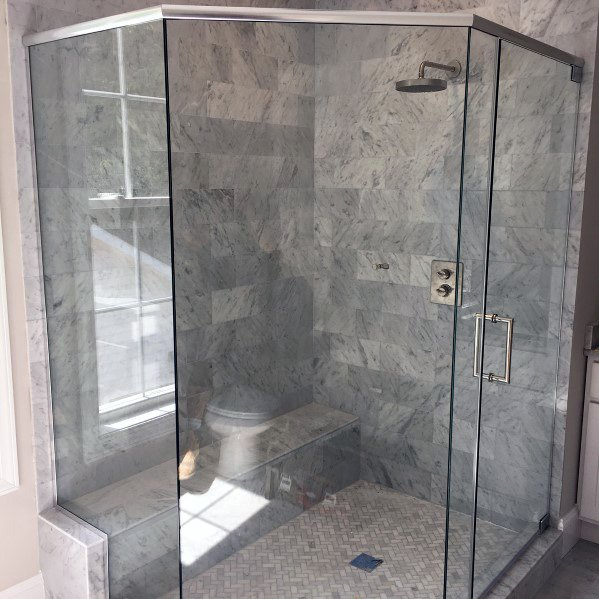 Grey Marble Tile Home Design Ideas Corner Shower