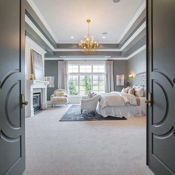 Top 60 best grey bedroom ideas neutral interior designs - Stunning master bedroom themes enhanced interior design ...