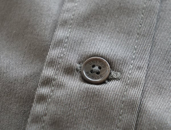 Grey Mens United By Blue Holt Work Shirt Center Chest Button