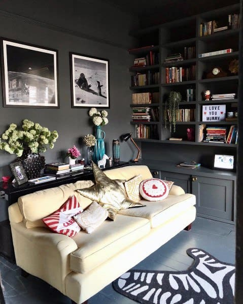 Grey Office Magnificent Painted Floor Design Ideas