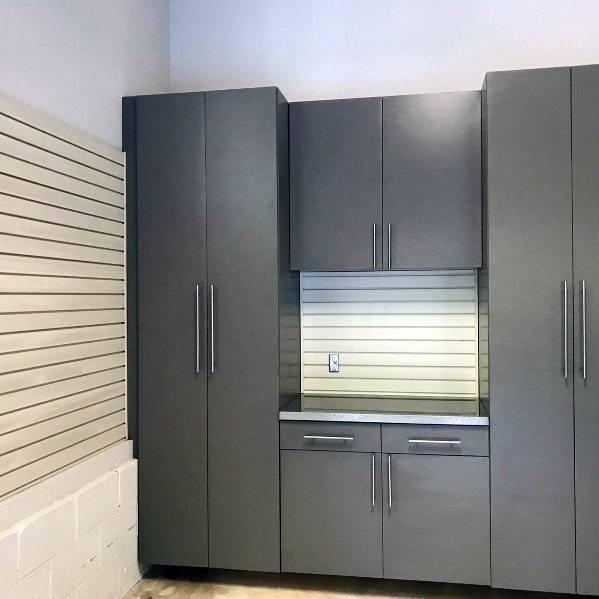 Grey Painted Garage Cabinet Ideas