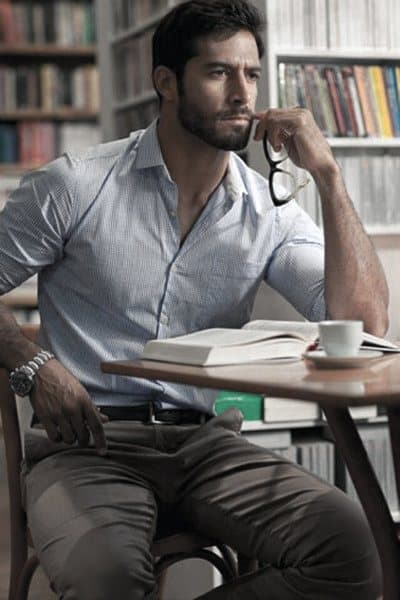 Grey Pants With Blue Dress Shirt Casual Wears Mens Style Ideas