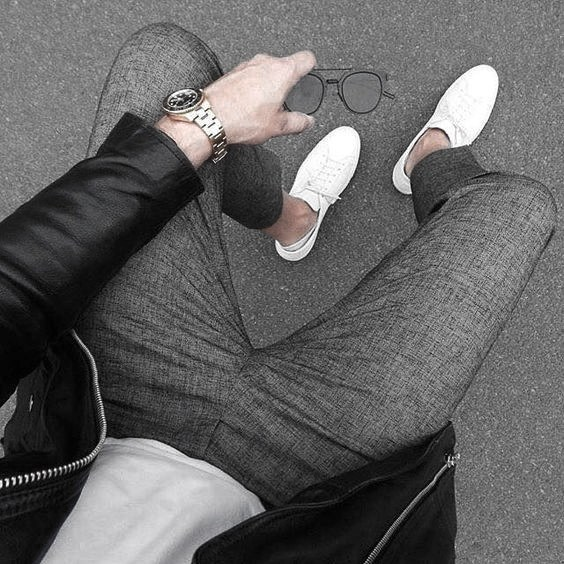 Grey Pants With White T Shirt Male How To Wear A Leather Jacket Leather Jacket Outfits Styles