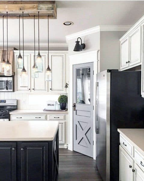 Grey Rustic Design Ideas For Kitchen Pantry Door
