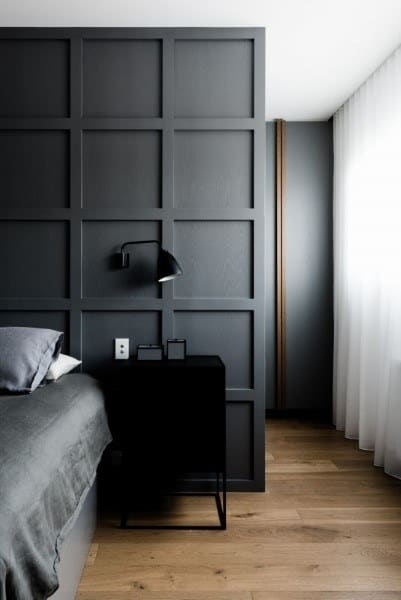 Grey Simple Wainscoting Ideas For Bedroom