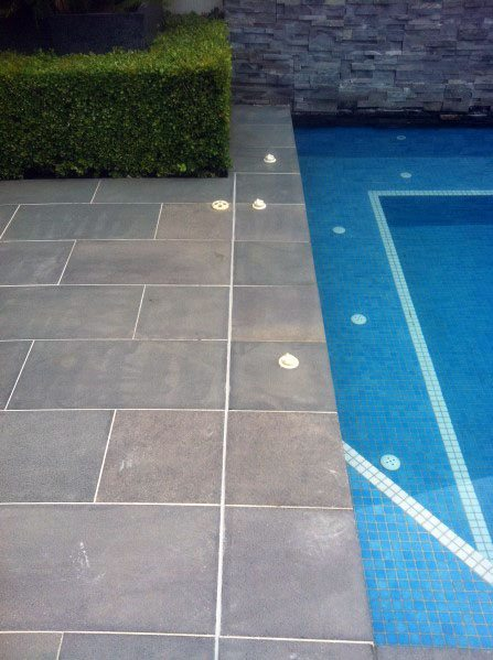 Grey Slate Pool Tile Design Ideas