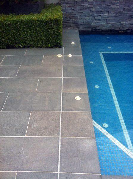 Grey Slate Pool Tile Design Ideas