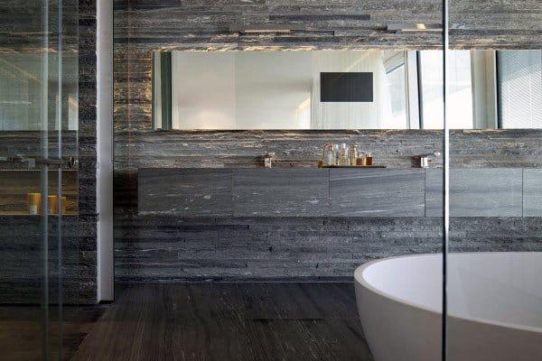 Grey Stone Luxury Cool Bathrooms Ideas
