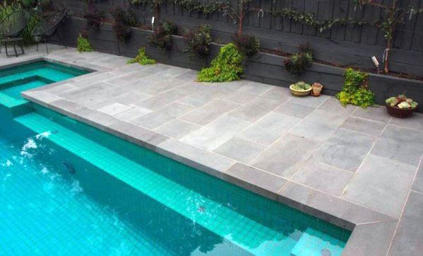 Grey Stone Pool Tile Ideas