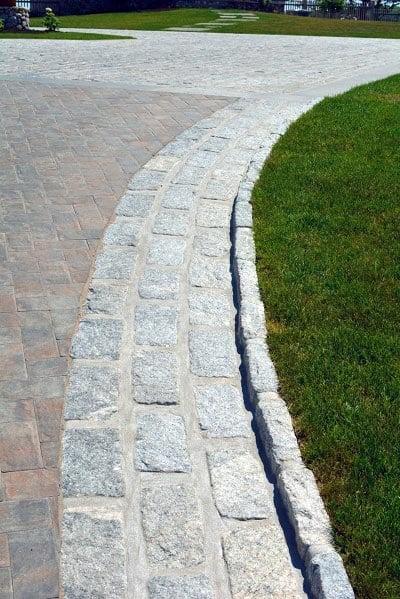 Grey Stones Driveway Edging Ideas