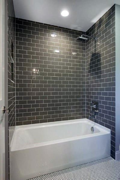30 Great Pictures And Ideas Of Neutral Bathroom Tile: Top 60 Best Bathtub Tile Ideas