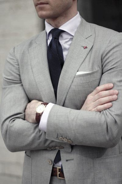 Grey Suit Outfits For Men
