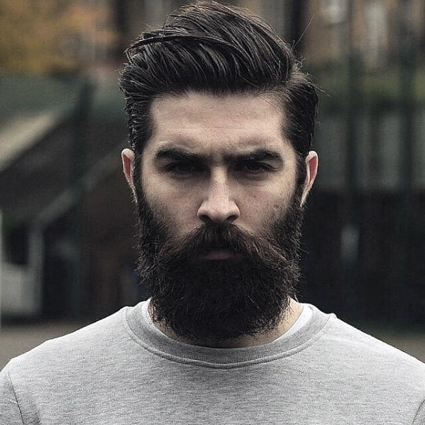 Grey Sweater With Awesome Brown Beard Style For Men