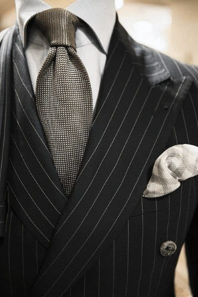 Grey Tie Sophisticated Male Black Suit Style Ideas