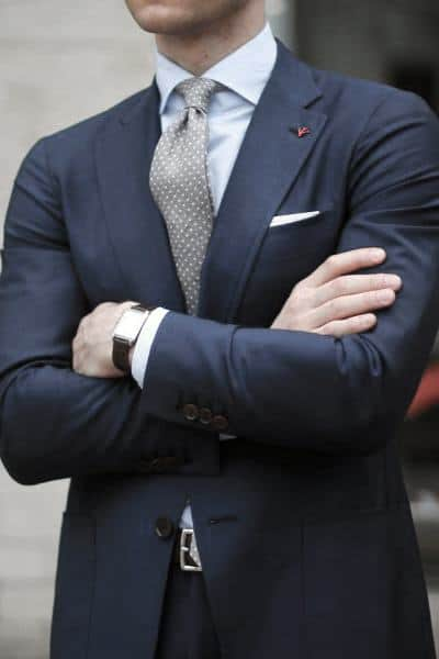 Grey Tie With Light Blue Dress Shirt Guys Navy Blue Suit Style Designs