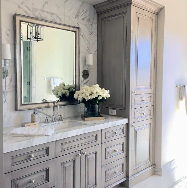 Grey Traditional Bathroom Vanity Ideas