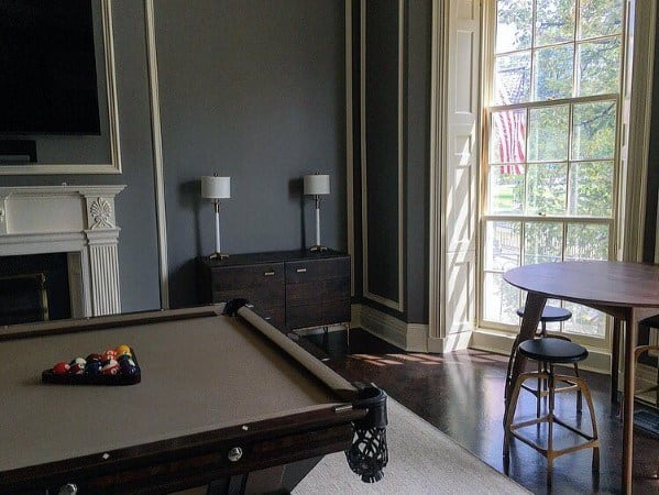 Grey Walls Billiards Room Ideas