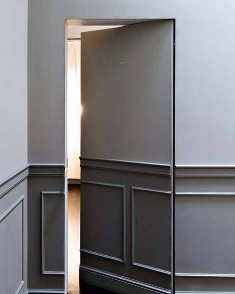 Grey Walls Hidden Door Interior Design